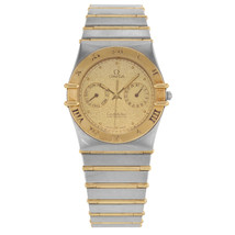 Omega Constellation 32mm CHRONO 18K Or Jaune & Acier Quartz Homme MONTRE - $1,742.41