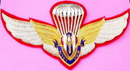 Thai Army parasal Wing Badge Reserve Officer Training Corps Student พาราเซล - $14.00