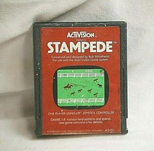 Atari 2600 Stampede by Activision AG-011 1981 Video GAME CARTRIDGE ONLY Untested - $6.92