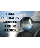 100X 7 SCHOLARS MENTAL ARMOR PROTECT PRIVATE THOUGHTS WORK MAGICK RING P... - $99.77