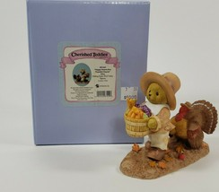 New Cherished Teddies 4053449 Alden Happy Hearts Are Thankful Hearts - $49.49
