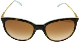 Tiffany & Co Sunglasses Women Brown Havana Gold Oval TF4087B 8134/3B - $236.61