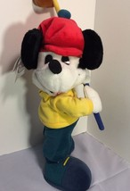 Mickey Mouse Golfer Disney Store Standing Plush Stuffed Animal 15 Inches - $12.12