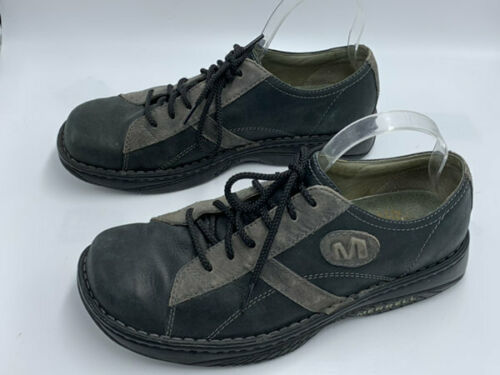 Merrell Mens 10 Charcoal Black Oxford Lace Up Leather Shoes image 4