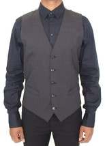 Dolce & Gabbana Gray Wool Stretch Dress Vest Blazer - $131.35