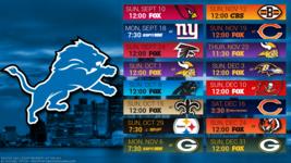 Detroit Lions 2017 Schedule Poster 24 X 36 inch  - $18.99