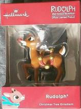"Hallmark 2.5"" Christmas Tree Ornament Rudolf The Red Nosed Reindeer New - $9.33"