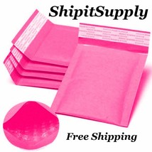 1-500 #000 4X8 Kraft ( Pink )  Bubble Envelopes Mailers Fast Shipping - $0.99+