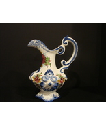Handpainted Vestal Alcobaca Earthenware  Pitcher Old World Portugese Cha... - $11.00