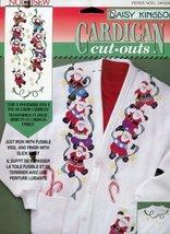 Daisy Kingdom Cardigan Cut-Outs Dancing Santas - $9.78