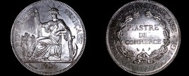 1906-A French Indo-China 1 Piastre World Silver Coin - Vietnam - $199.99