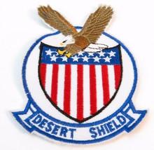 Vintage Rare Desert Shield Storm Eagle Military Patch NEW - $4.46