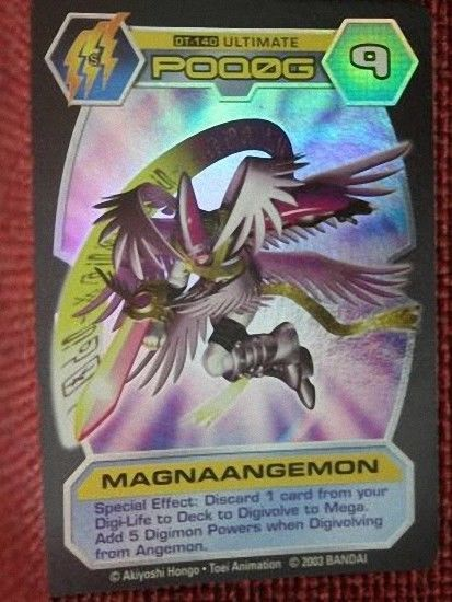 Bandai Digimon D-Tector Series 4 Trading Card Game Magnaangemon