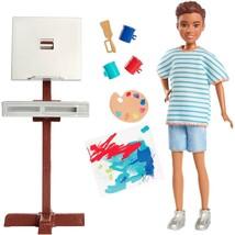 Barbie Team Stacie Art Class Exclusive Playset w Boy Doll & Accessories NEW - $19.99