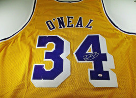 SHAQUILLE O'NEAL / NBA HALL OF FAME / AUTOGRAPHED L. A. LAKERS CUSTOM JERSEY COA
