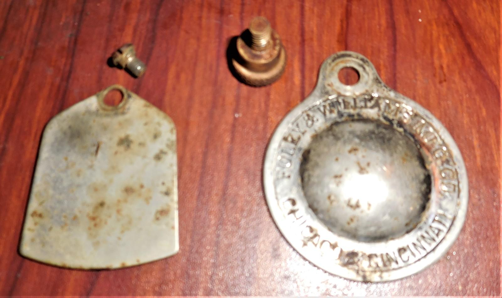 1898 Foley & Williams Goodrich B Plates Inspection & Slack Thread Lever w/Screws