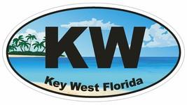 Key West Florida Oval Bumper Sticker or Helmet Sticker D1129 - $1.39+