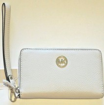 Michael Kors Fulton Flat Front Vanilla White Purse Wallet Phone Case RRP £105 - $112.79