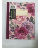 Mintgreen With Pink Floral  Dots Composition Notebook, Paperback Bound - $9.89