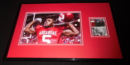 Darren McFadden Signed Framed Rookie Card & Photo Display SAGE Arkansas - $93.14