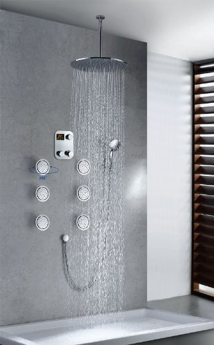 "Primary image for Cascada Luxury Bathroom Shower Set with Luxury 16"" Shower Head (Ceiling Mount) R"