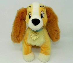 "Disney Store Lady Plush Dog 12"" Stuffed Plush Animal Tramp Cocker Spaniel - $15.00"
