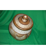 Vintage Studio Crafted  Pottery Cookie Jar Coffee Canister Pasta  Holder... - $113.85