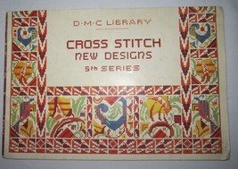 Vtg D.M.C. Library Cross Stitch New Designs 5TH Series - Printed In France - $24.95