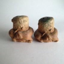 """Vintage Ceramic Mushroom Salt & Pepper Shakers 3-D 2"""" X 2"""" Mid Century M... - $10.84"""