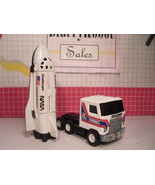 Vintage Buddy L NASA Toy Space Shuttle Challenger & Mack Truck Pressed S... - $22.00