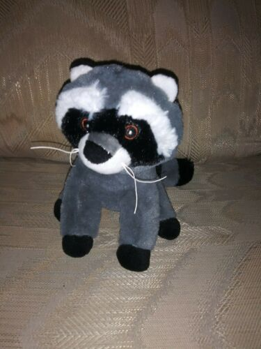 "Primary image for Scholastic Raccoon Plush 6.5"" 2017 Stuffed Animal 557450 Surface Wash Made In..."