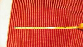 Deep Red /  Gold Stripe Damask Upholstery Fabric 1 Yard  F1086 - $39.95