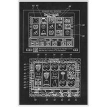 Pacman Slots Patent Blueprint , Toys and Games Photo Art - $15.12 CAD+
