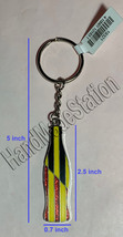 Coke Coca-Cola Shiny red Germany Flag Bottle Keychain