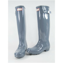 Hunter Boot Company Gull Grey Tall Gloss Original Rainboots 6 NWOB - $97.52