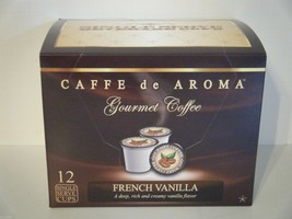 Caffe de Aroma French Vanilla flavored 12 Single Serve K-Cups OK for 2.0 - $10.45