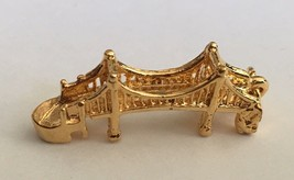 Vintage Sterling Silver Gold Plated Golden Gate Bridge Charm #2 - $21.84