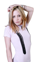 Cardboard Robot Womens Pink Lilac Enter the Nunchuck T-Shirt NWT image 2
