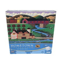 """Hometown Collection 1000 Pc Jigsaw Puzzle 18.94""""x26.75"""" Covered Bridge - $21.28"""