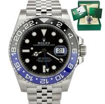 New Stickered May 2019 Rolex Gmt Master Ii Batman Black Blue Ceramic 126710 Blnr - $20,495.93