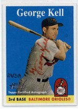 2007 Topps Heritage Real One Autographs Red Ink George Kell Baltimore Or... - $67.49