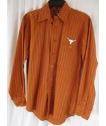 ANTIGUA Men's Small Texas LONGHORNS Button Down Pinstripe Shirt Cotton Poly - $13.85