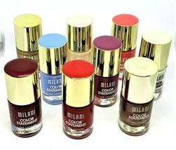 Lot of 9 New Milani Color Statement Nail Lacquer Polish 9 Different Colo... - $18.49