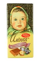 Alenka Алёнка Milk Chocolate with hazelnuts and raisins 100g bar 1-14 pcs Russia - $5.89+