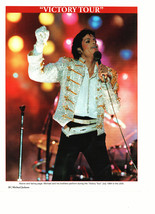 Michael Jackson teen magazine pinup clipping white sparkly jacket on stage Bop