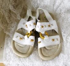 Earth Shoe Gelron 2000 Women's Sandals Size 7 1/2 White Leather Beaded U... - $14.01
