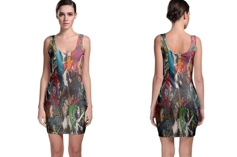 Suicide squad movie poster bodycon dress