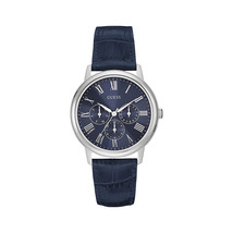 Guess W0496g3 Blue Multifunction Dial Blue Leather Mens Watch - £79.61 GBP