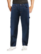 Men's Carpenter Work Jeans Hammer Loop Relaxed Fit Casual Cotton Denim Pants image 11