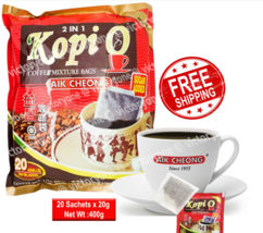 Coffee Mixture Bags Kopi O Aik Cheong 20 Sachets x 20g Sugar Added Coffe... - $29.90